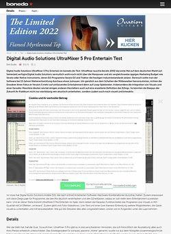 Bonedo.de Digital Audio Solutions UltraMixer 5 Pro Entertain