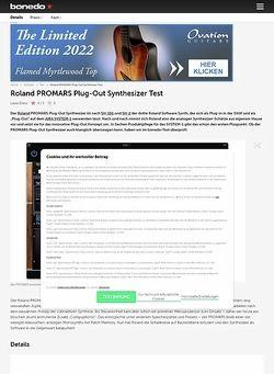 Bonedo.de Roland PROMARS Plug-Out Synthesizer