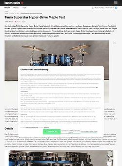 Bonedo.de Tama Superstar Hyperdrive Maple