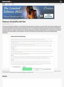 Bonedo.de Peterson StroboPlus HD