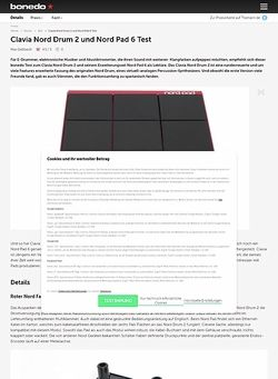 Bonedo.de Clavia Nord Drum 2 und Nord Pad 6
