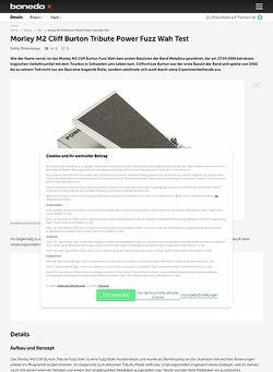 Bonedo.de Morley M2 Cliff Burton Tribute Power Fuzz Wah