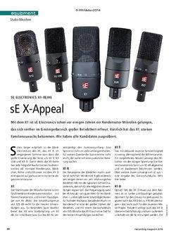 Recording Magazin sE Electronics X1-Serie