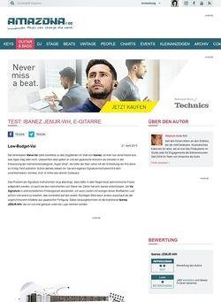 Amazona.de Test: Ibanez JEMJR-WH, E-Gitarre
