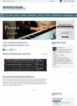 Amazona.de Preview: Roland System-500, Modularsynthesizer