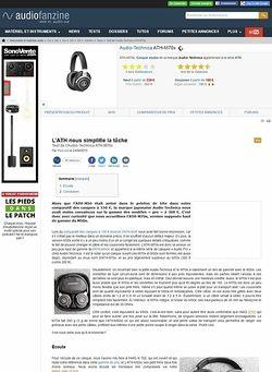 Audiofanzine.com Audio-Technica ATH-M70x