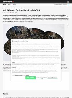 Bonedo.de Meinl Classics Custom Dark Cymbals