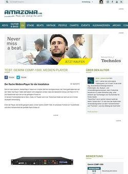 Amazona.de Test: Gemini CDMP-1500, Medien-Player