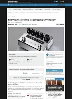 MusicRadar.com Red Witch Factotum Bass Suboctave Drive