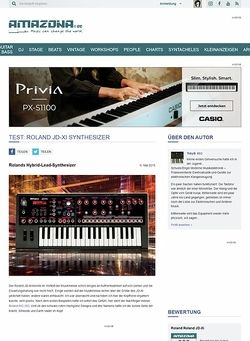 Amazona.de Test: Roland JD-Xi, Synthesizer