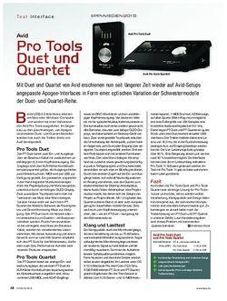 KEYS Avid Pro Tools Duet und Quartet