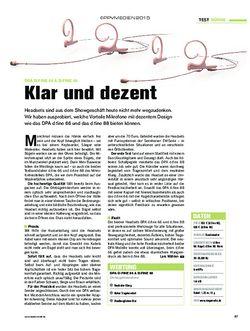 Tastenwelt DPA d:fine 66 & d:fine 88