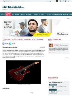Amazona.de Test: G&L Tribute Asat Junior II IA, E-Gitarre