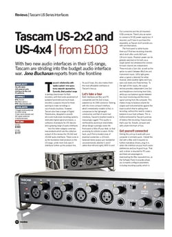 Future Music Tascam US-2x2 and US-4x4