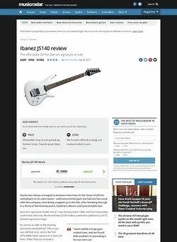 MusicRadar.com Ibanez JS140