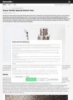 Bonedo.de Sonor Martini Special Edition