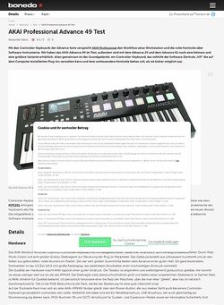 Bonedo.de AKAI Advance 49