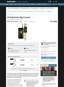 MusicRadar.com IK Multimedia iRig 2
