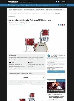 MusicRadar.com Sonor Martini Special Edition