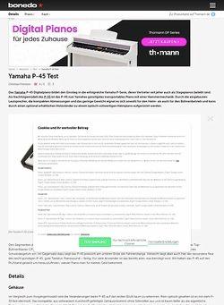 Bonedo.de Yamaha P-45