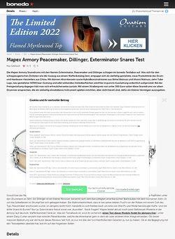 Bonedo.de Mapex Armory Peacemaker, Dillinger, Exterminator Snares