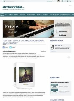 Amazona.de Test: Best Service ERA II Medieval Legends, Sample-Library