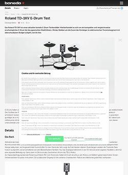 Bonedo.de Roland TD-1KV E-Drum