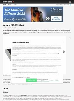 Bonedo.de Yamaha PSR-E353