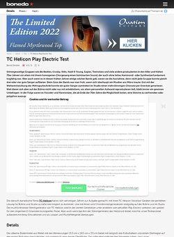 Bonedo.de TC Helicon Play Electric