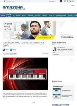 Amazona.de Test: Clavia Nord Electro 5D & 5HP, Stage Piano