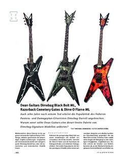 Gitarre & Bass Dean Guitars Dimebag Dime O Flame ML, Dimebag Black Bolt ML, Razorback Cemetery Gates, E-Gitarren