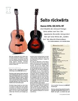 Gitarre & Bass Ibanez AVD1 & AVN1, A-Gitarren