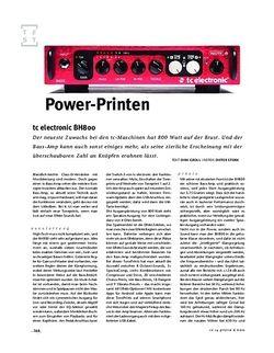 Gitarre & Bass tc electronic BH800, Bass-Top