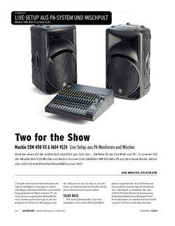 Keyboards Mackie SRM 450 V3 & 1604 VLZ4 - Live-Setup aus PA-Monitoren und Mischer