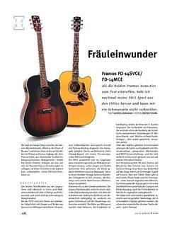 Gitarre & Bass Framus FD-14SVCE/FD-14MCE, A-Gitarren