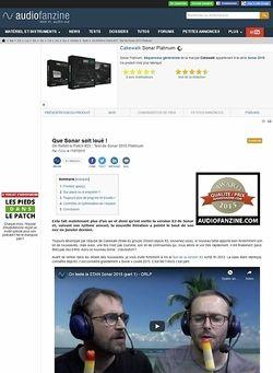 Audiofanzine.com Cakewalk Sonar Platinum
