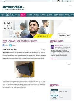 Amazona.de Test: LP Black Box Cajon // LP Claws