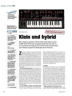 Tastenwelt Roland JD-Xi