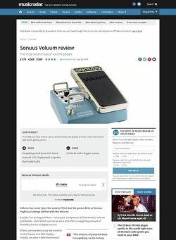 MusicRadar.com Sonuus Voluum