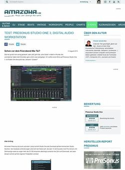 Amazona.de Test: Presonus Studio One 3, Digital Audio Workstation