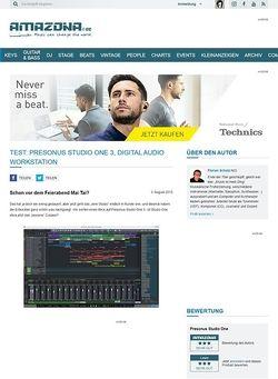 Amazona.de Test: Presonus Studio One 3, Digital Audio Workstation