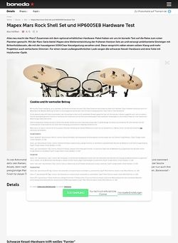 Bonedo.de Mapex Mars Rock Shell Set und HP6005EB Hardware