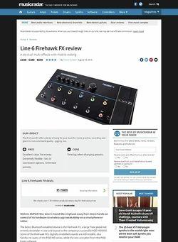 MusicRadar.com Line 6 Firehawk FX