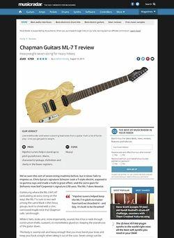 MusicRadar.com Chapman Guitars ML-7 T