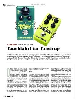 Guitar TC Electronic Helix und Viscous Vibe