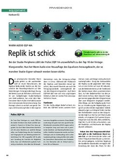 Recording Magazin Warm Audio EQP-WA
