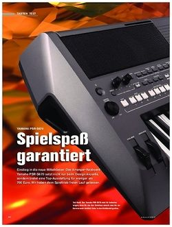 Tastenwelt Yamaha PSR-S670