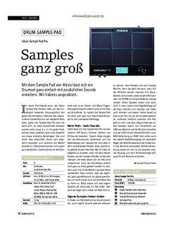 Soundcheck Alesis Sample Pad Pro