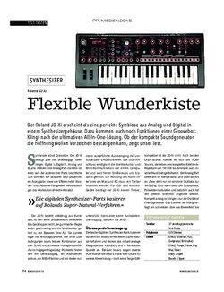 Soundcheck Roland JD-Xi