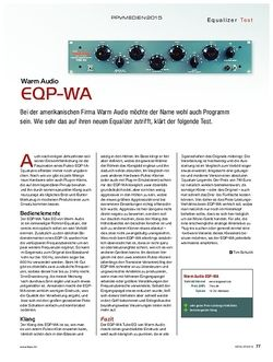 KEYS Warm Audio EQP-WA